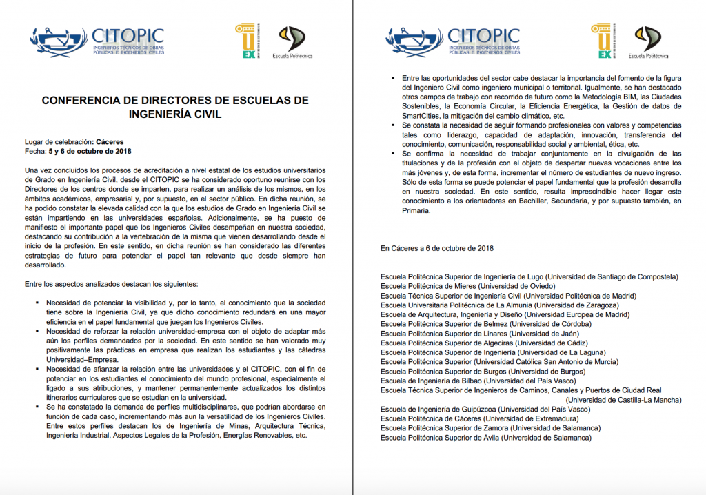 ComunicadoDePrensa2018_DirectoresIngenieríaCivil